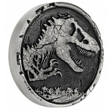 2 troy ounce silver coin Jurassic World 2021