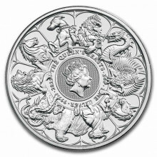 2 Troy ounce silver coin Queens Beasts completer 2021