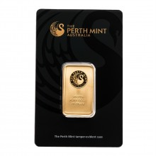 Gold bar 20 grams Perth Mint