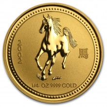 1/4 Troy ounce gold coin Lunar 2002