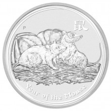 1 troy ounce silver Lunar 2008 Year of the Mouse