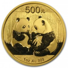 Gold panda coin 1 troy ounce fine gold