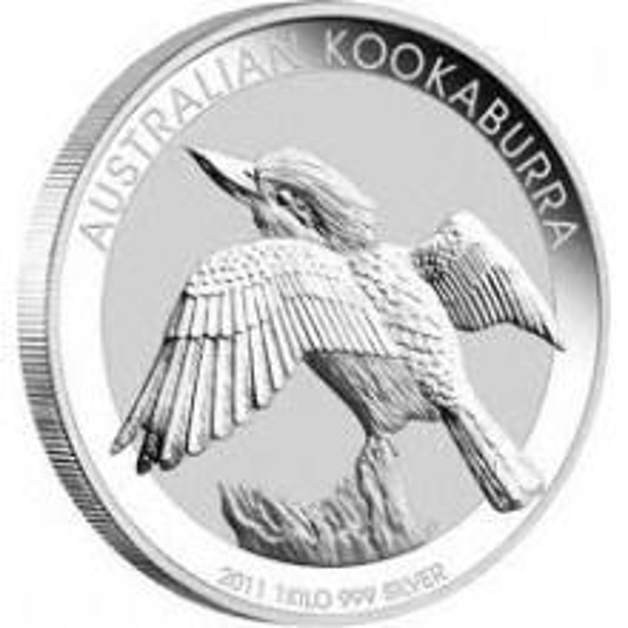 1 Kilo Kookaburra silver coin 2011
