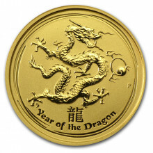 1/10 Troy ounce gold coin Lunar 2012 - year of the dragon