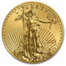 Gold 1/10 troy ounce American Eagle coin