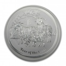 2015 Year of the Goat 10 troy ounce silver coin