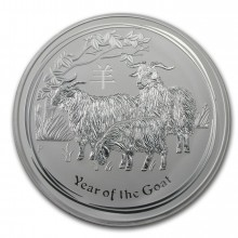 1 kilo silver Lunar coin 2015 - year of the goat - Perth Mint