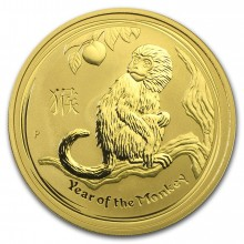 1 Troy ounce gold Lunar coin 2016 - year of the monkey