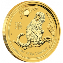 1/10 troy ounce gold Lunar coin 2016 - year of the monkey