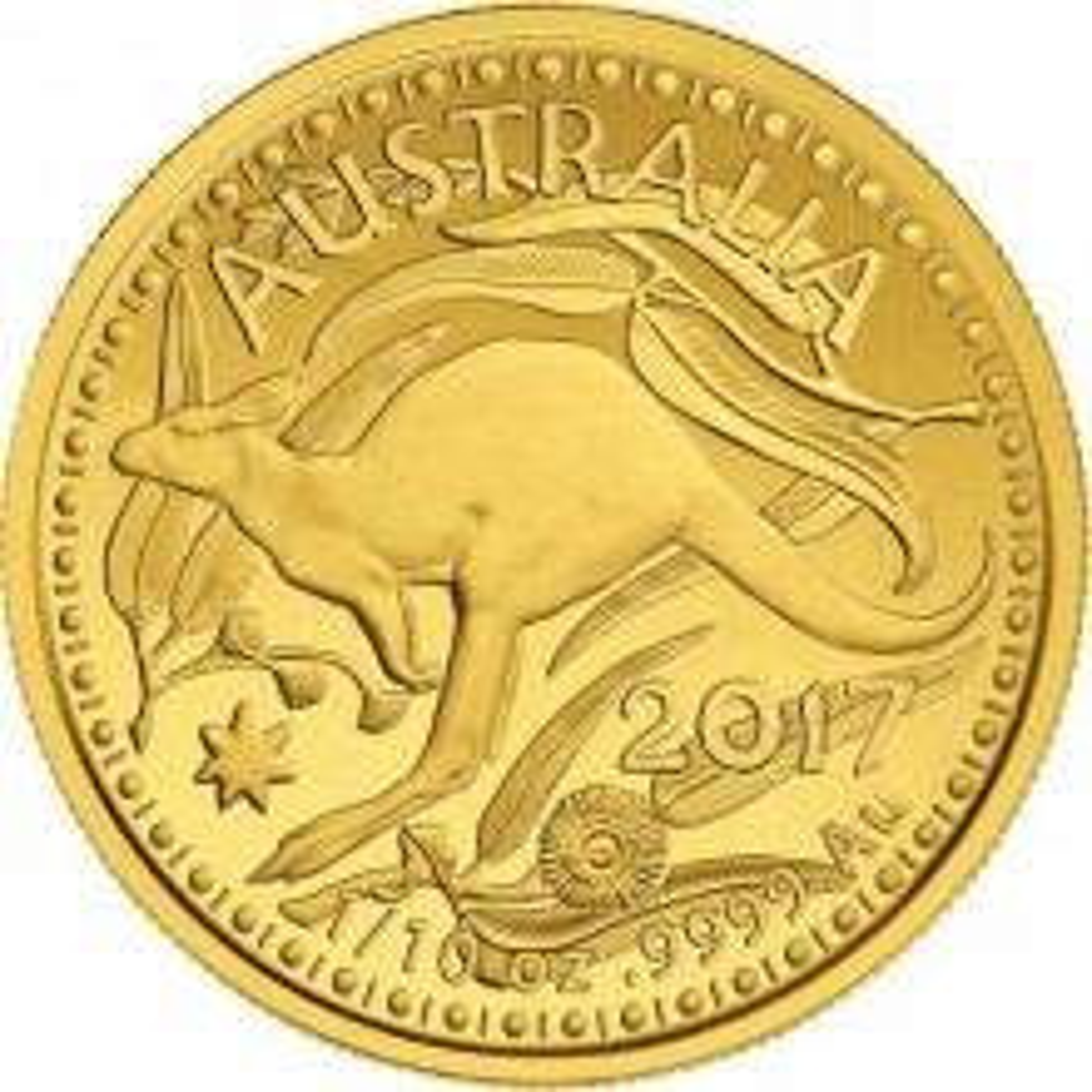 1 Troy ounce gouden munt Kangaroo 2017 Royal Australian Mint