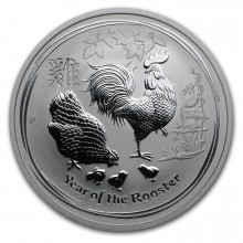 Half troy ounce silver Lunar coin 2017 - year of the rooster
