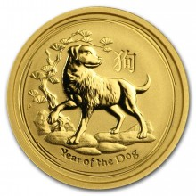 1/10 Troy ounce gold Lunar coin - 2018 year of the Dog