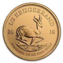 1/2 Troy ounce gold coin Krugerrand 2018