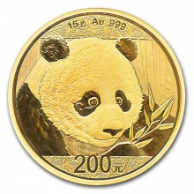 15 Grams gold coin Panda 2018