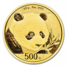 30 Grams gold coin Panda 2018