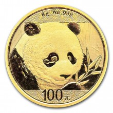 8 Grams gold coin Panda 2018