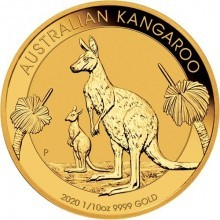 Gold 1/10 troy ounce golden Kangaroo coin 2020