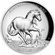 2 troy ounce silver coin Australische Brumby 2020 Proof