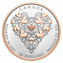 Silver coin Best Wishes On Your Wedding Day