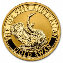 1 troy ounce gold coin swan 2020