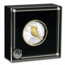 2 troy ounce gold gilded silver coin Kookaburra 2020 Proof