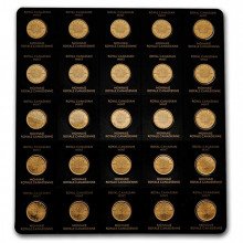 25x 1 gram gold coin Maple Leaf 2021
