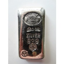 Silver bar 250 grams of various producers