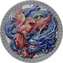Silver coin Phoenix and dragon 2021