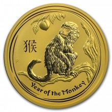 2 Troy ounce gold Lunar coin 2016 - year of the monkey