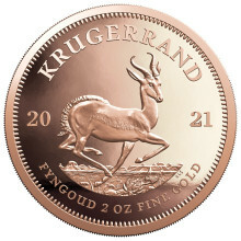 2 Troy ounce gold coin Krugerrand 2021 Proof