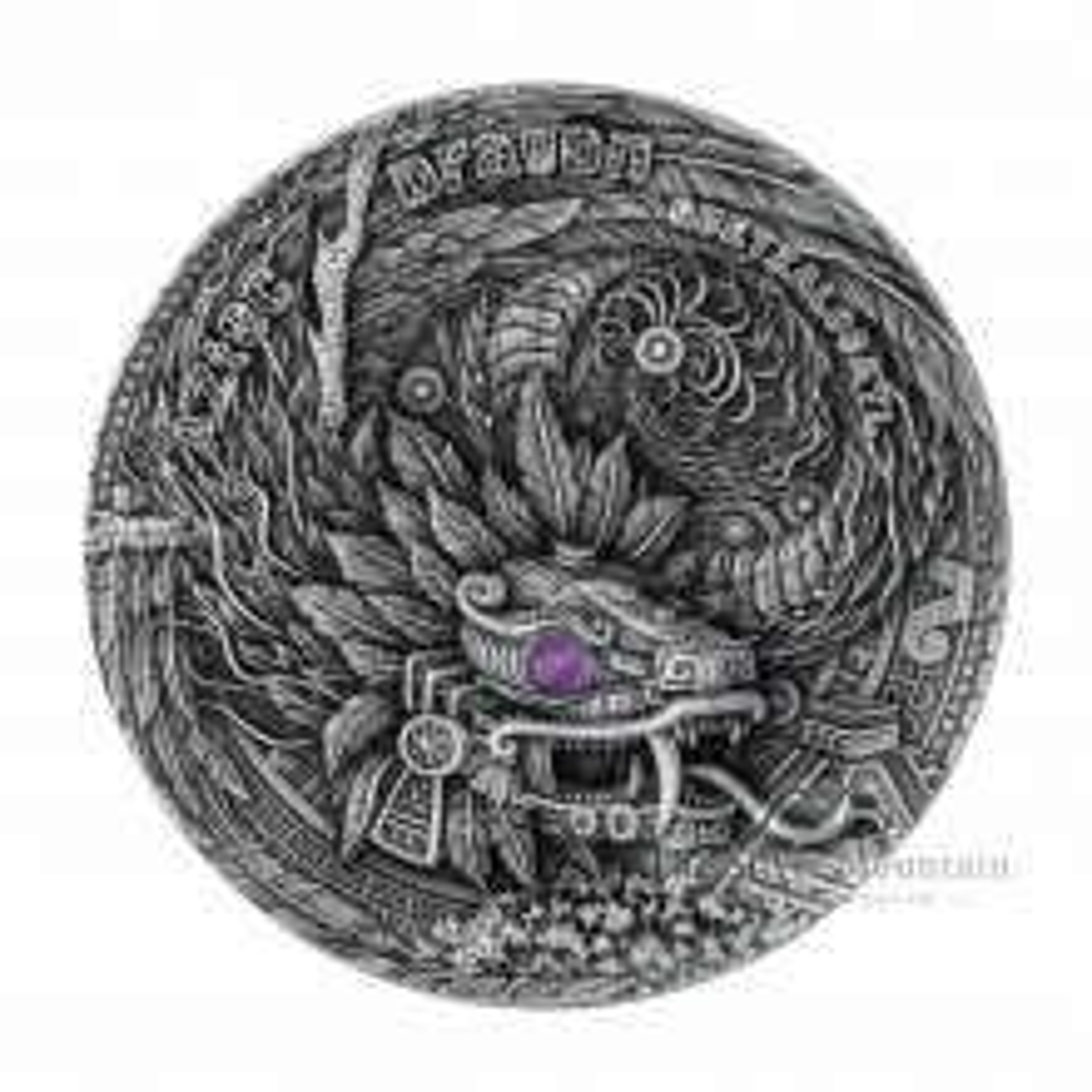 2 troy ounce silver coin Aztec Dragon 2021