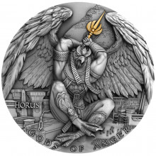 2 troy ounce silver coin God of Anger Horus Ultra High Relief 2020