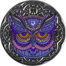 2 troy ounce silver coin Mandala Owl - Antique Finish 2020