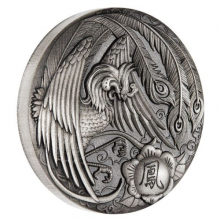 2 troy ounce silver coin Phoenix Antique Finish 2018