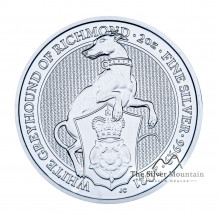2 Troy ounce silver coin Queens Beasts White Greyhound