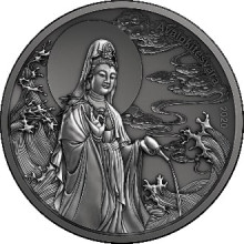 2 troy ounce silver coin Samoa Avalokitesvara Piedfort - antique finish 2020