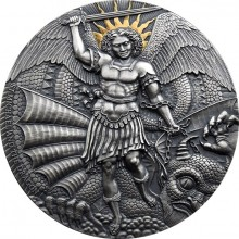 3 troy ounce silver coin St. Michael and the Dragon Apocalypse