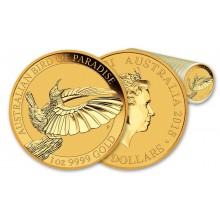 1 Troy ounce gouden munt Birds of Paradise 2018