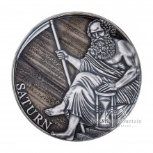 3 troy ounce silver coin Saturnus planets and gods series 2021