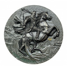 3 troy ounce silver coin five tiger general Guan Yu 2020