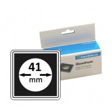 Box of 10x Leuchtturm protective Quadrum coin capsules 41 mm