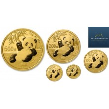 5-piece set of gold coins Panda 2020
