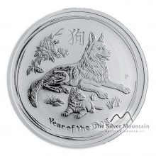 5 Troy ounce silver Lunar coin 2018 - year of the dog