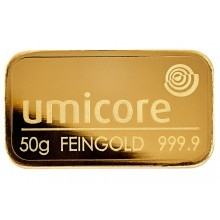 50 Grams gold bar various melters