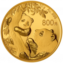 50 Gram gold coin Panda 2021 Proof