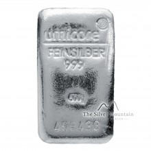 500 Grams silver bar Umicore