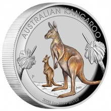 1 Troy ounce silver coin Kangaroo 2020 Color
