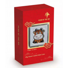 Silver coin year of the Ox 2021 Proof
