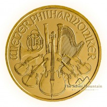 Gold 1/10 troy ounce Vienna Philharmonic coin