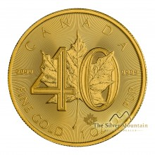 1 troy ounce gold Maple Leaf 40th Anniversary 2019